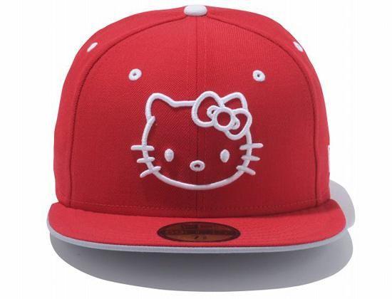 23c72595e43 Hello Kitty Logo 59Fifty Fitted Cap by HELLO KITTY x NEW ERA ...