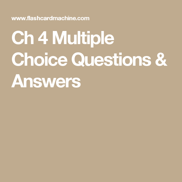 Ch 4 Multiple Choice Questions & Answers | N358/Psychiatric & Mental