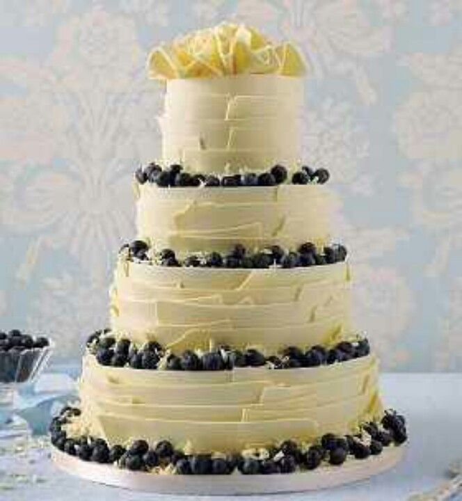 Marks And Spencer Wedding Flowers: White Chocolate, Lemon And Blueberry Wedding Cake. Yum