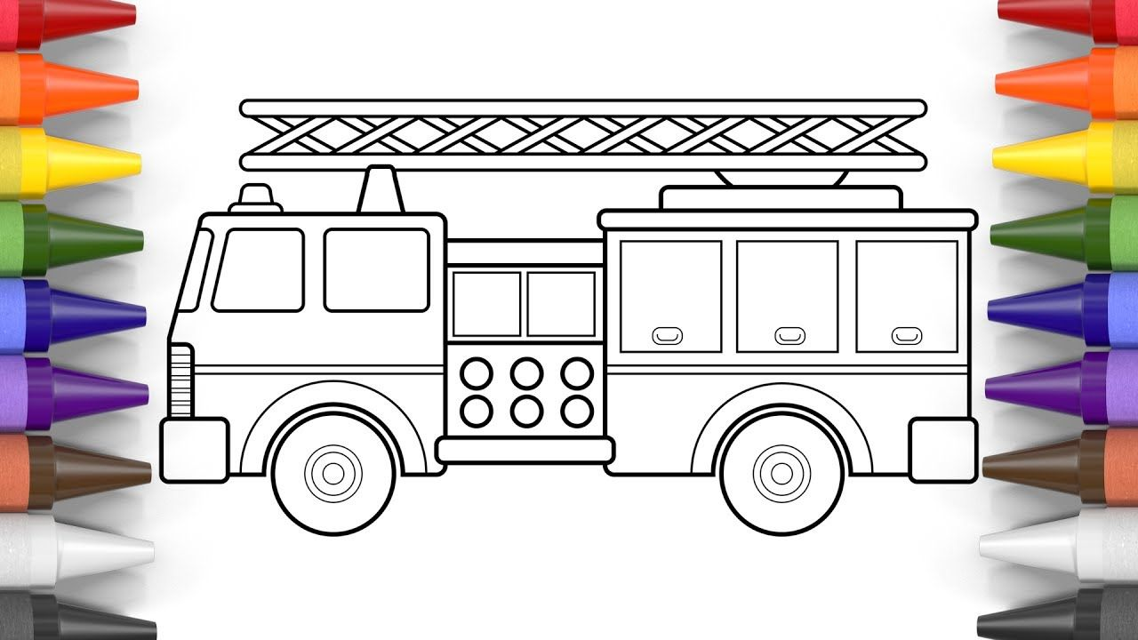 How To Color A Fire Truck Coloring Pages For Kids Art Colors