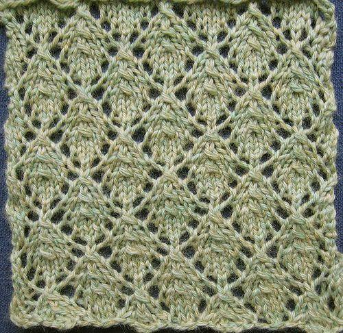Openwork Lace Knitting Pattern : Openwork Leaf Pattern