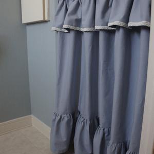 キッチンの勝手口ドア用カーテンの作り方 インテリア インテリア