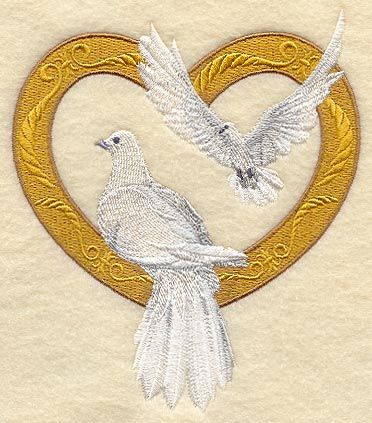 machine embroidery christian wedding machine embroidery designs at embroidery library victorian doves