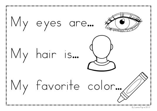 All About Me Coloring Writing Pages All About Me Preschool All