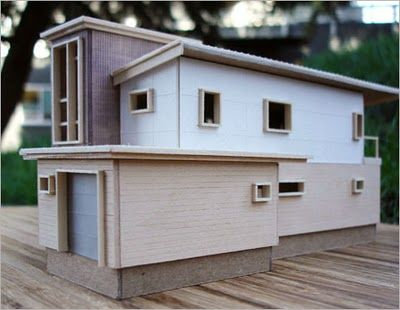 Maquette of prefab house in canada maqueta de casa de madera prefabricada canadiense - In house casas prefabricadas ...