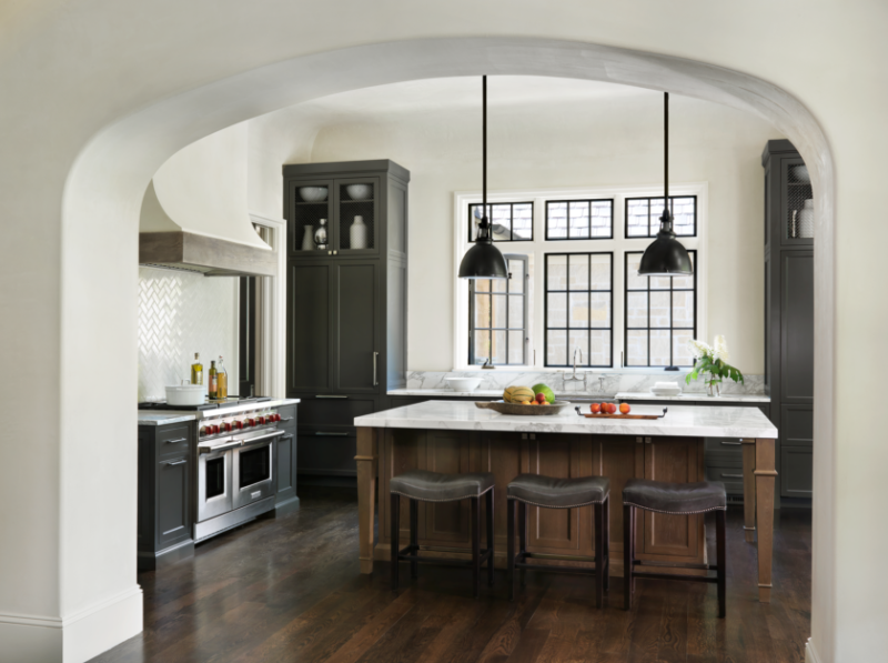 A Mix Of Industrial, Modern And Classic Materials. Transitional Kitchen By  St. Louis