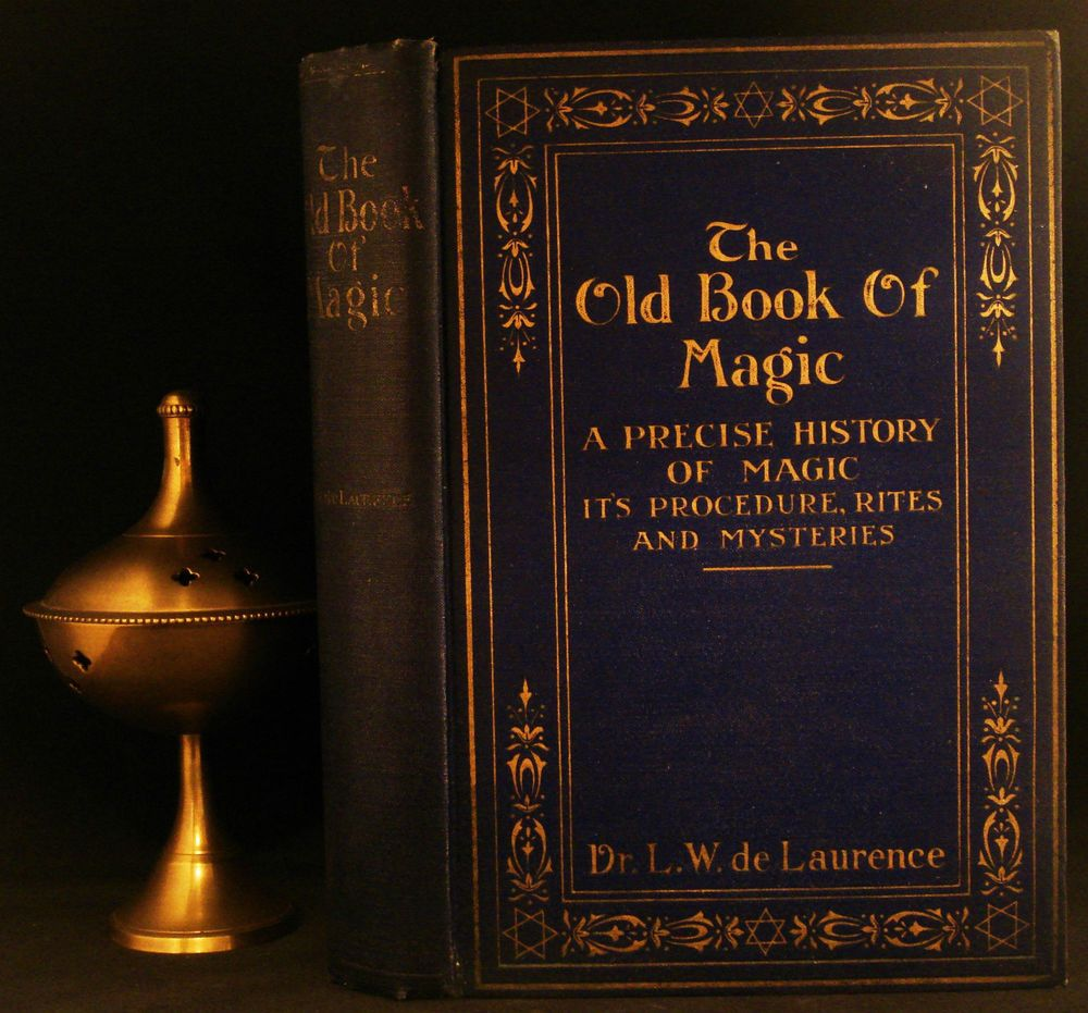 Occult Grimoire Old Book Of Magic Sorcery Rosicrucian Cabala Magick Invocation Witchcraft Books Occult Books Rosicrucian