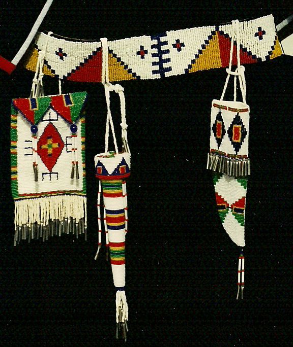 Mens Native American Beads: Reproduction Of Sioux Women's Beaded Tool Belt. By