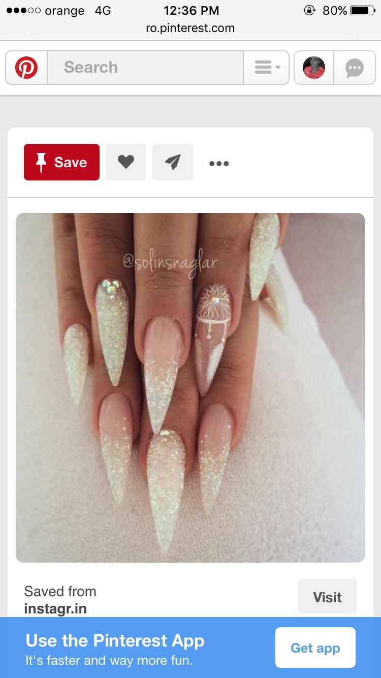 perfect stiletto nails | Random | Pinterest | Nageldesign ...