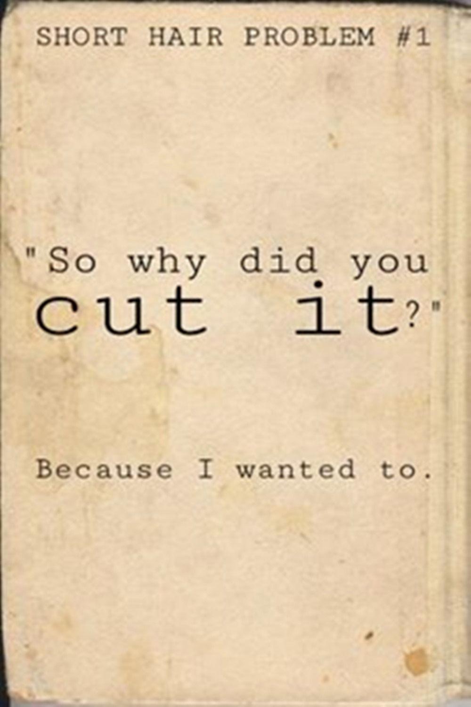 To cut\u0027 or \u0027not to cut\u0027 you hair short?