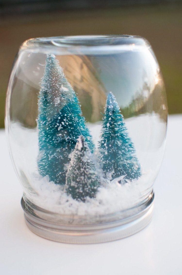 Comment Faire Des Boule A Neige 30 idées déco noël : comment faire des bocaux en verre déco