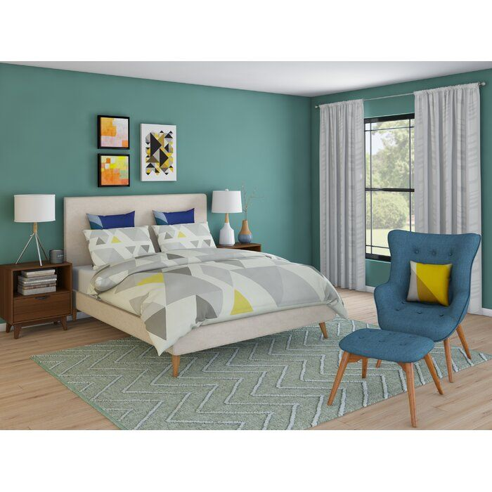 16 Relaxing Bedroom Designs For Your Comfort: Modern Rustic Interiors Parocela Upholstered Platform Bed