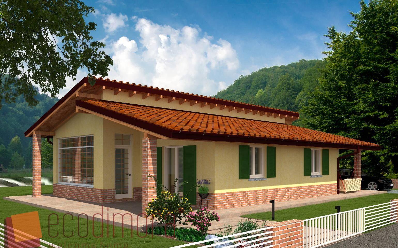 Interni Case Prefabbricate In Legno casa prefabbricata in legno easy 105 (con immagini) | case