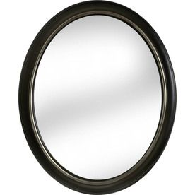Framed Bathroom Mirrors Bronze allen + roth 24-in x 30-in oil-rubbed bronze oval framed wall