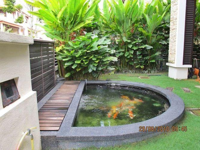 Kolam Ikan Minimalis Di Depan Rumah Koi Pond Design Koi Pond Ideas Pond Design