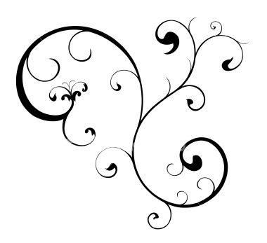 cute scroll stencil designs. An elemental swirl of budding vector scroll work for your designs
