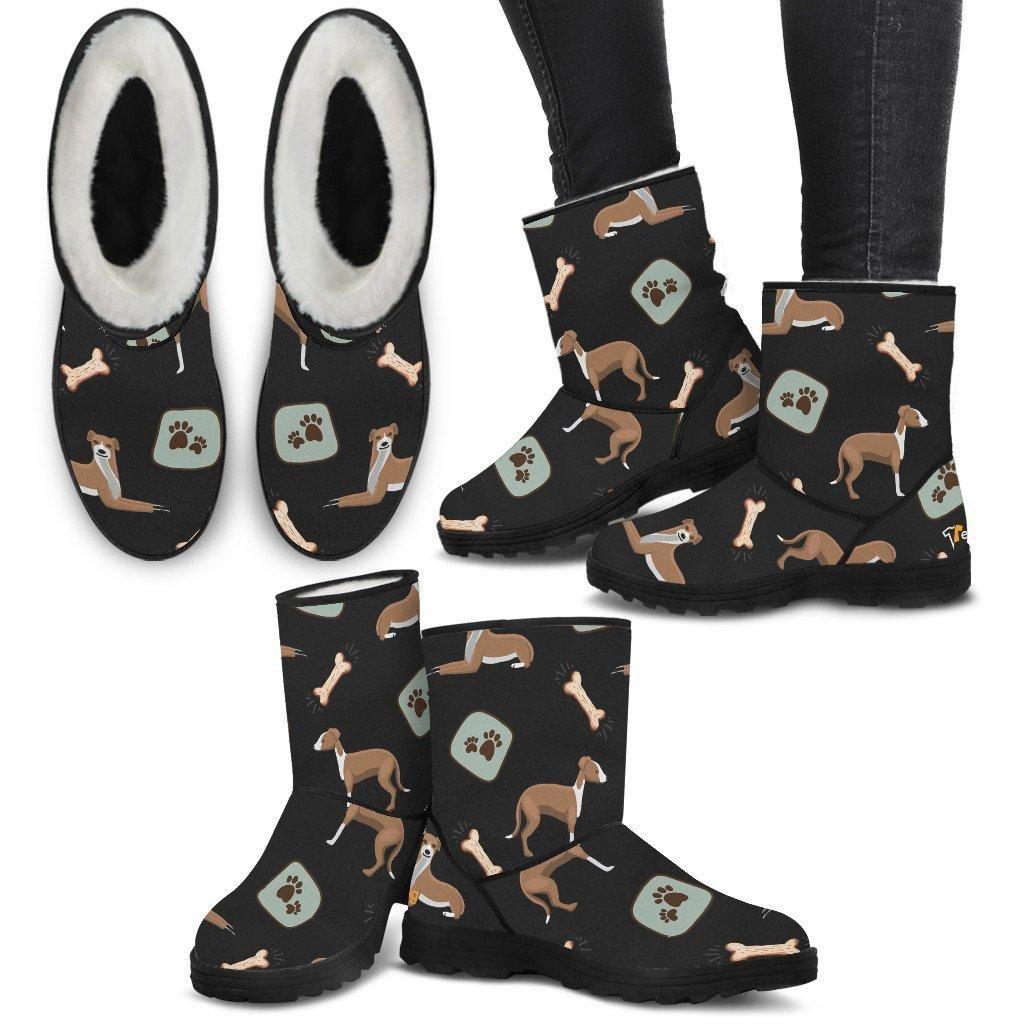 87255ee1af6d  TeeAmazing -  PillowProfits Women s Greyhound Pattern Fur Boots - Custom  Winter Boots - AdoreWe