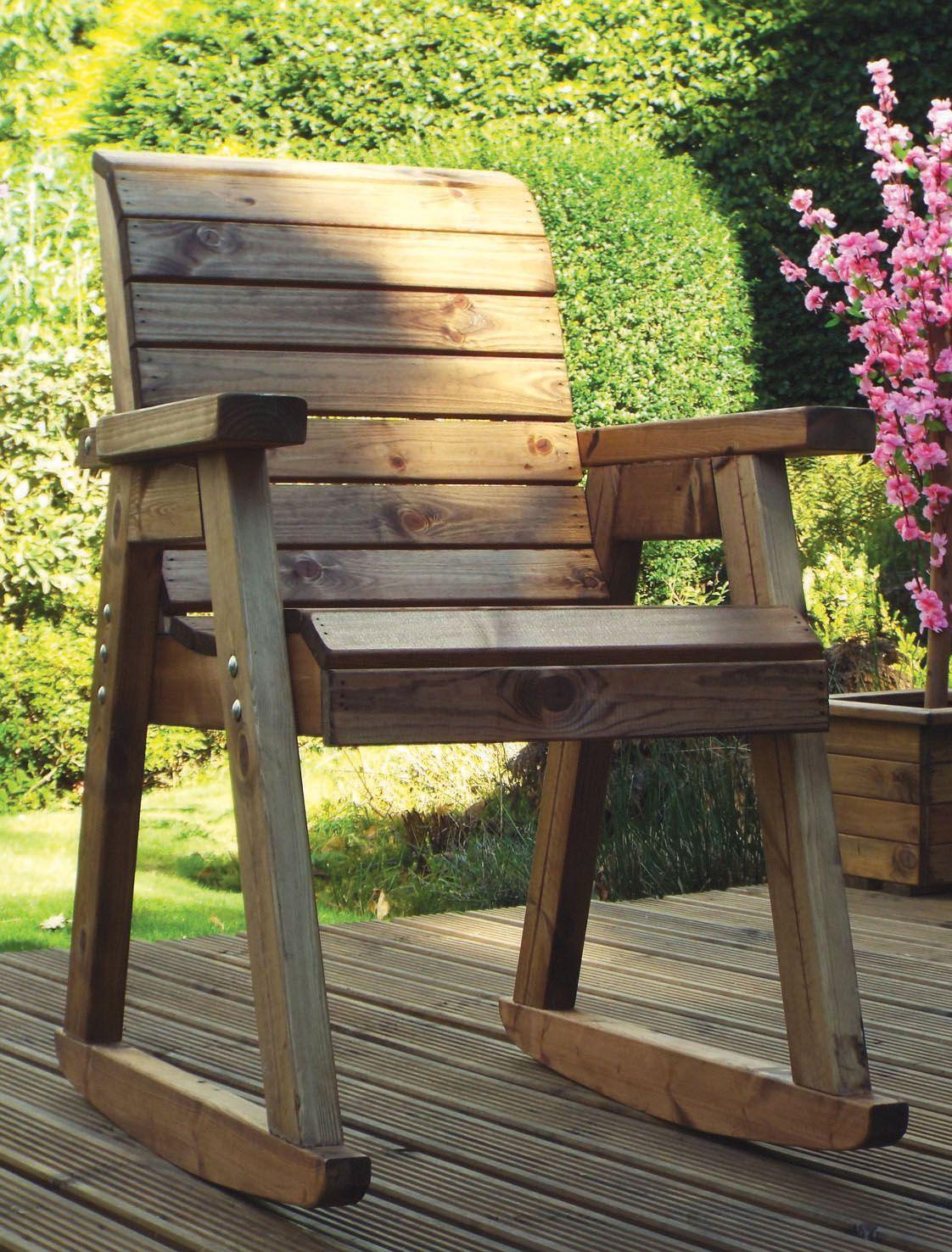 Rocking Chair - Outdoor Chair Rocker - Wooden Patio ...