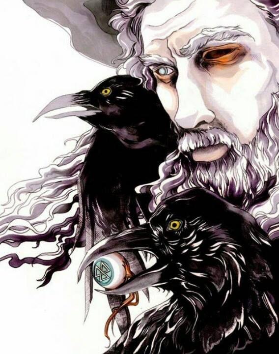 Crows Ravens: The Allfather (Odinn), with #Ravens.
