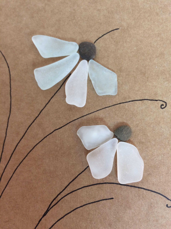 Handmade birthday card flower greeting card motherus day card sea