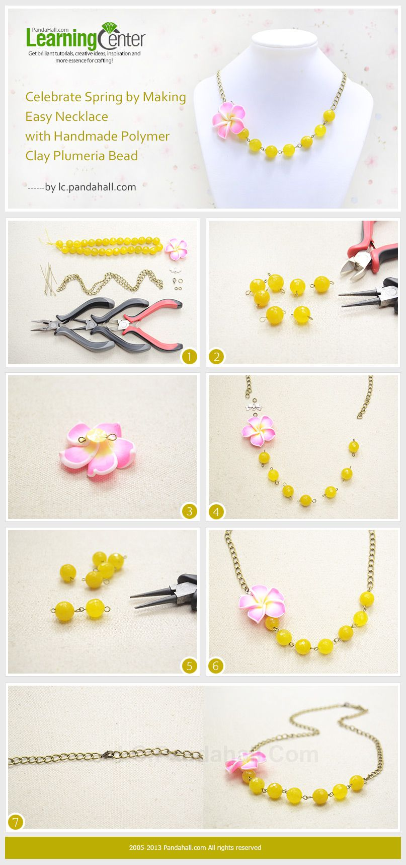 celebrate springmaking easy necklace with handmade polymer