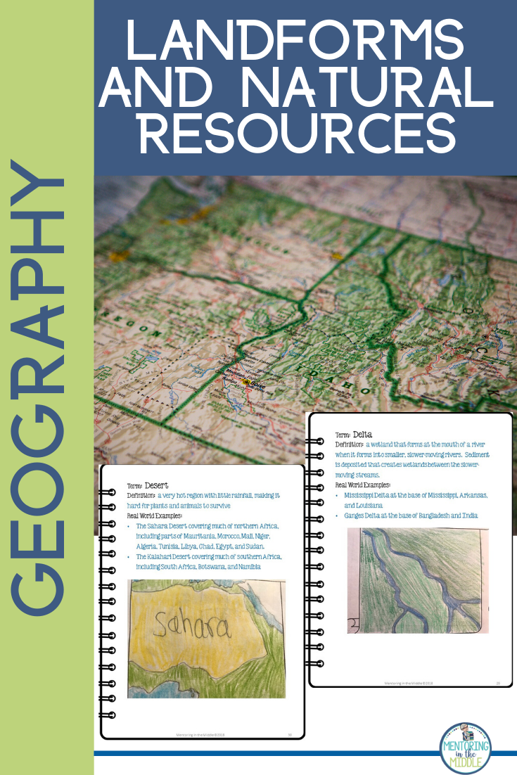 Geography Landforms and Natural Resources Project Upper