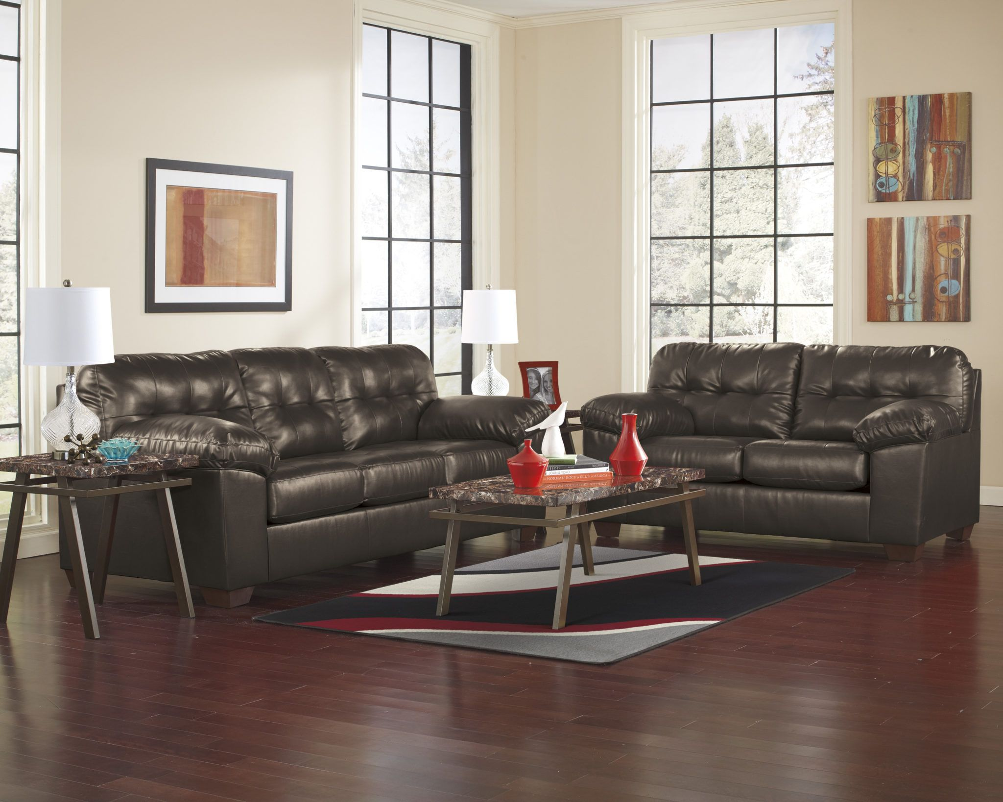 Alliston Sofa And Loveseat Set With Images Leather Sofa And Loveseat Living Room Sets Sofa And Loveseat Set