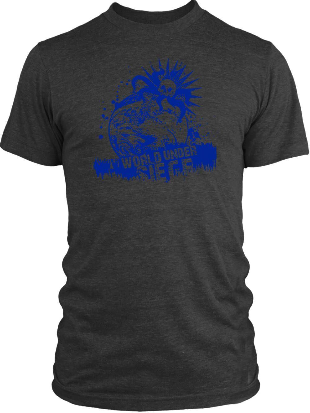 Big Texas World Under Siege (Blue) Vintage Tri-Blend T-Shirt