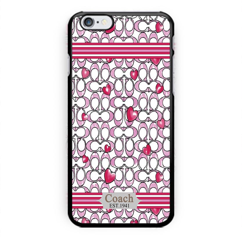 new coach fashion case love pink custom print on iphone 5 5s 6 6s