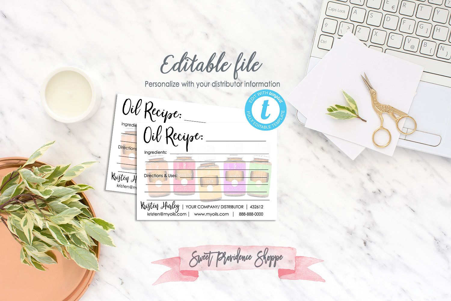 Recipes For Essential Oils Essential Oil Recipe Card Printable