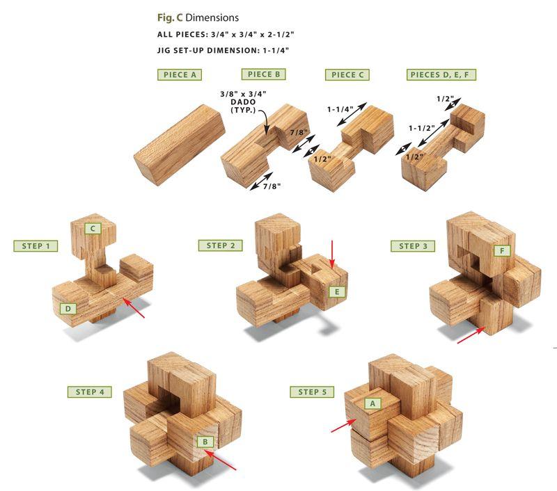 Wooden Burr Puzzles | Woodwork | Puutyöt