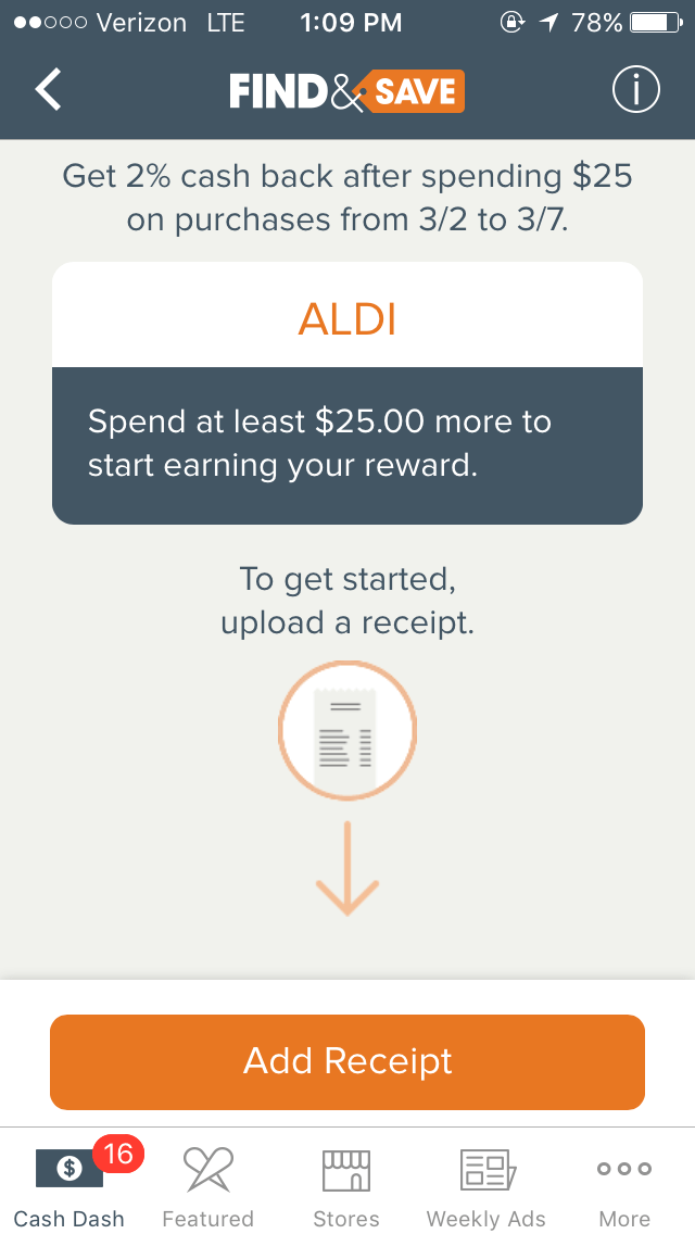 Aldi Shopping App