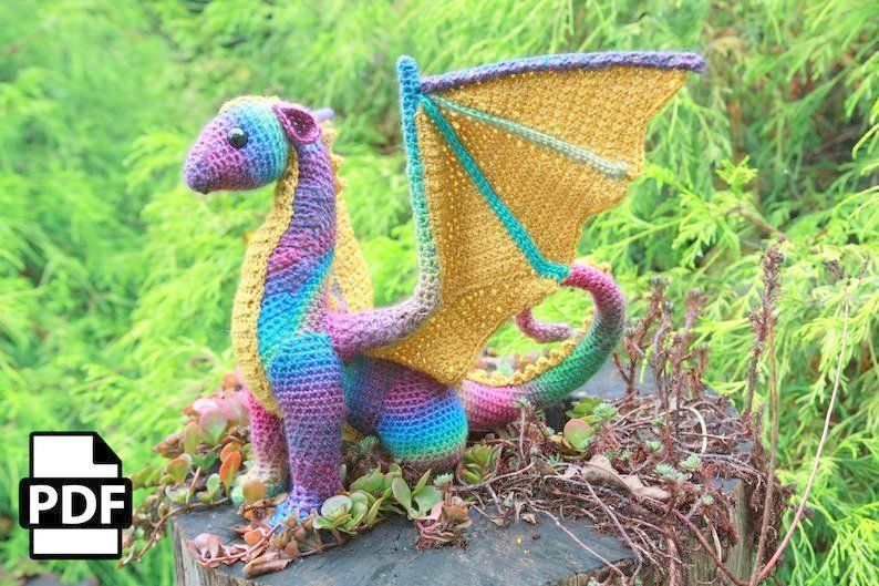 Amigurumi Crochet Dragon Pattern | Supergurumi | 529x794