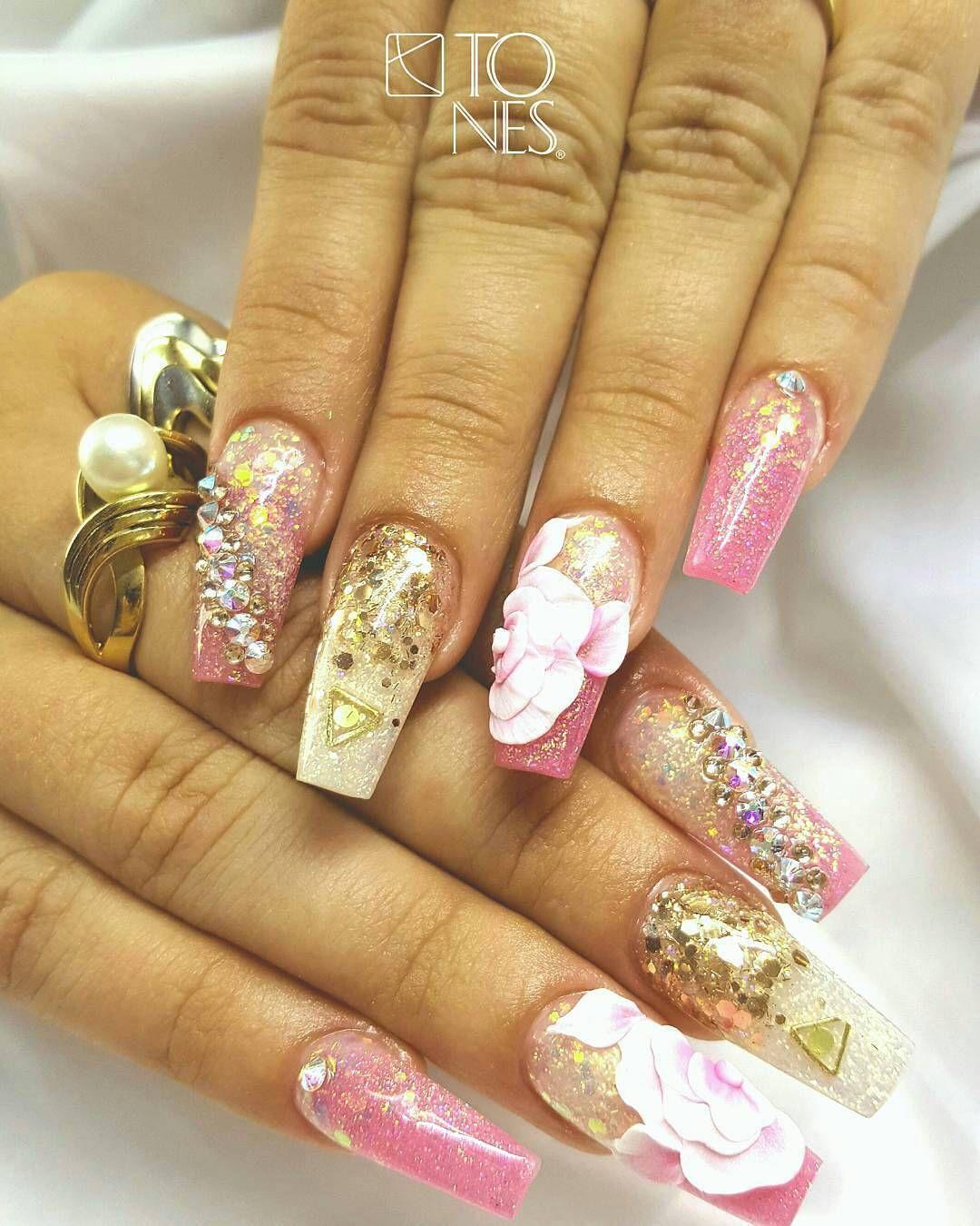 Tones Nail Art Examples | nails | Pinterest | Diseños de uñas, Uñas ...