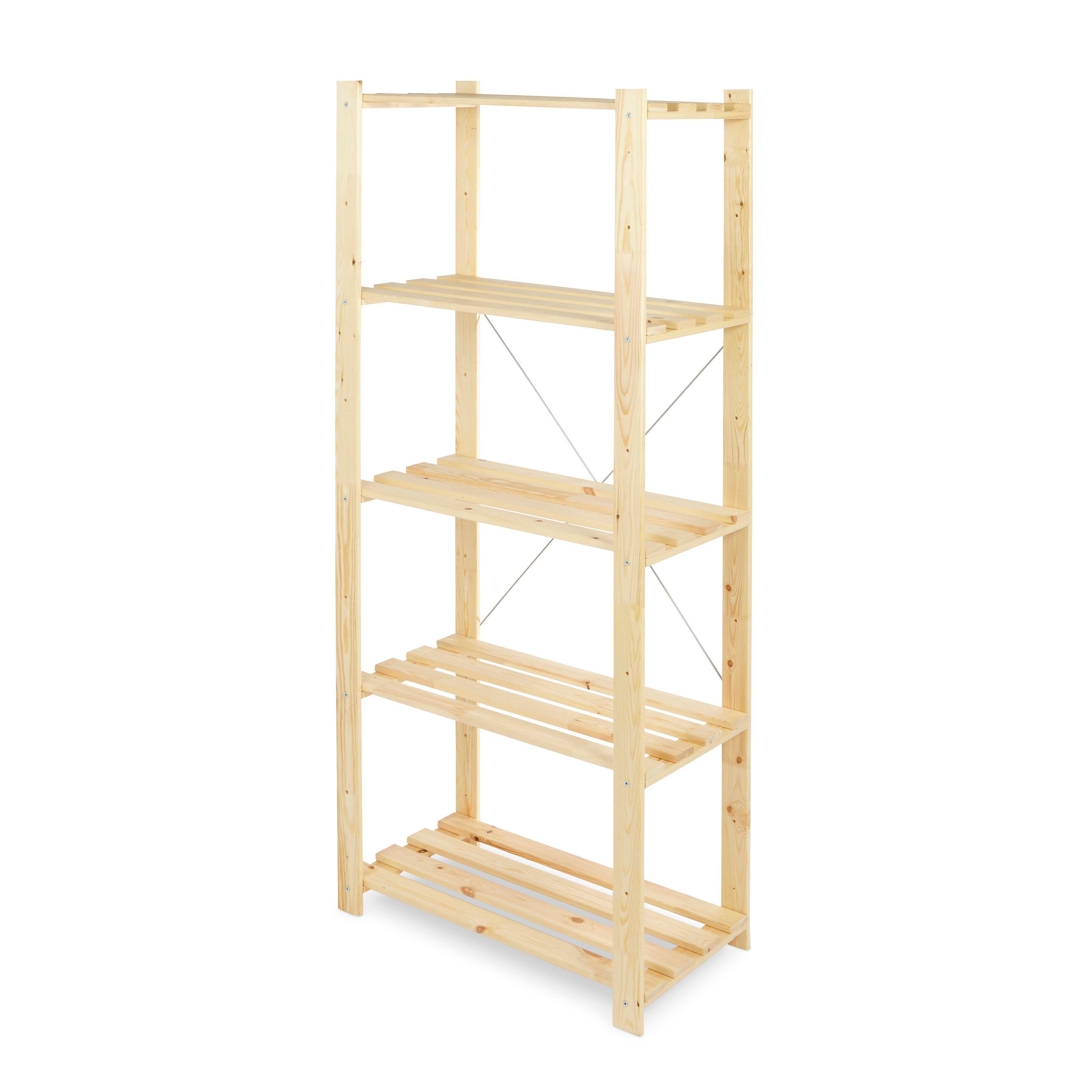 Form Symbios 5 Shelf Wood Shelving Unit B Q For All Your Home