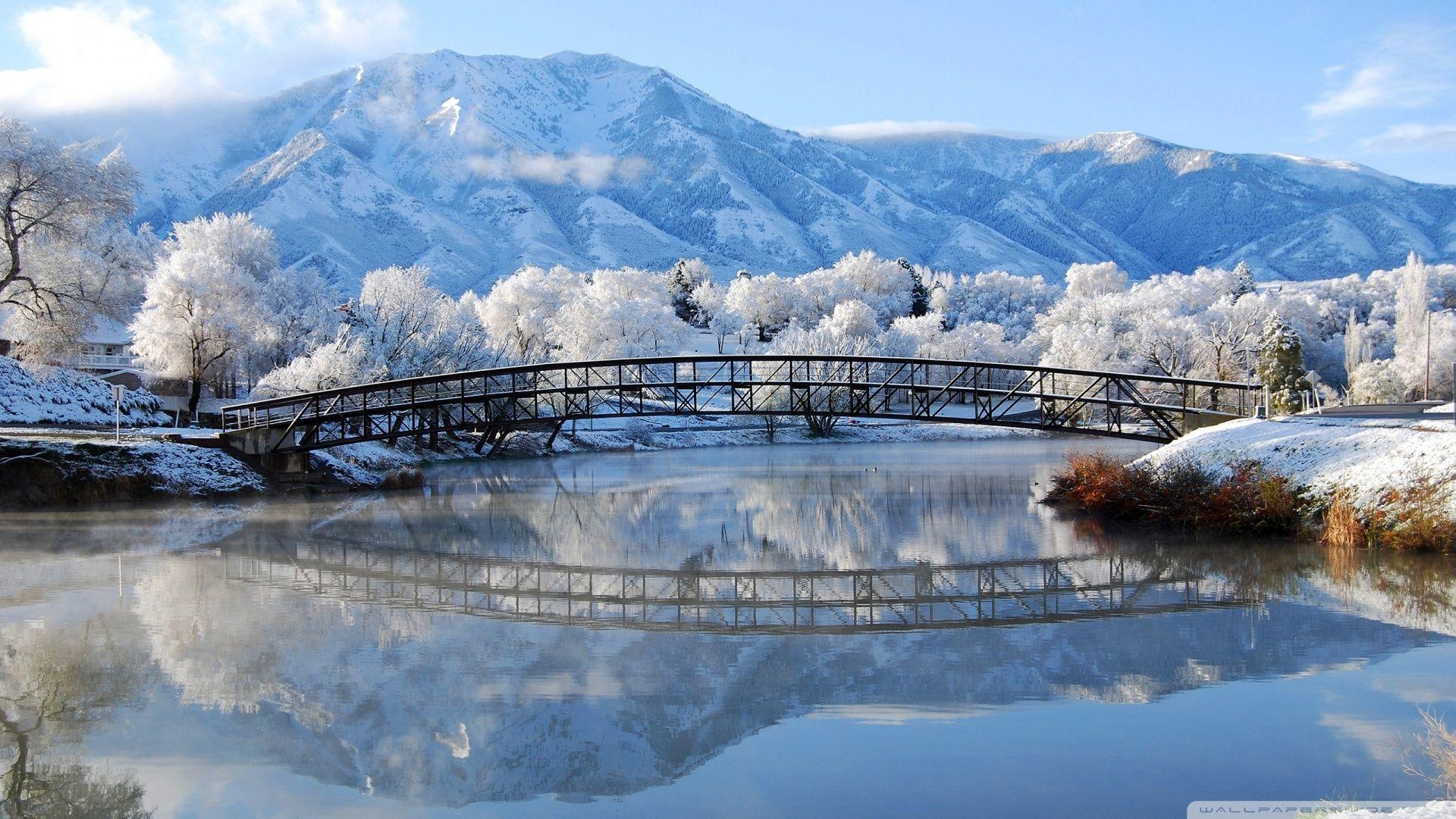 beautiful winter scene hd desktop wallpaper widescreen high