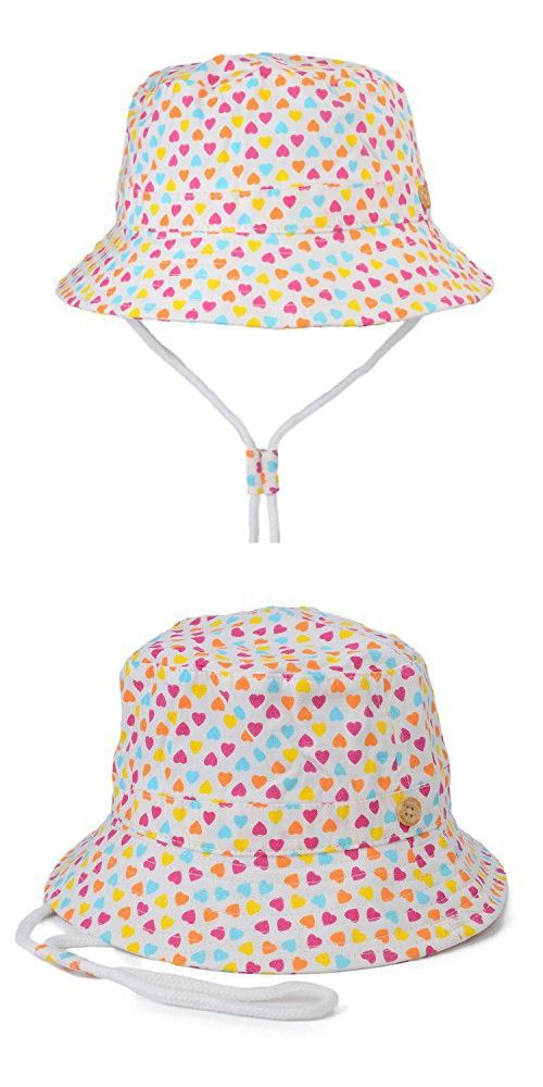 1fd8f710f36 Flammi Unisex Kids UV Sun Protective Cotton Bucket Hat with Chin Strap  (18.9
