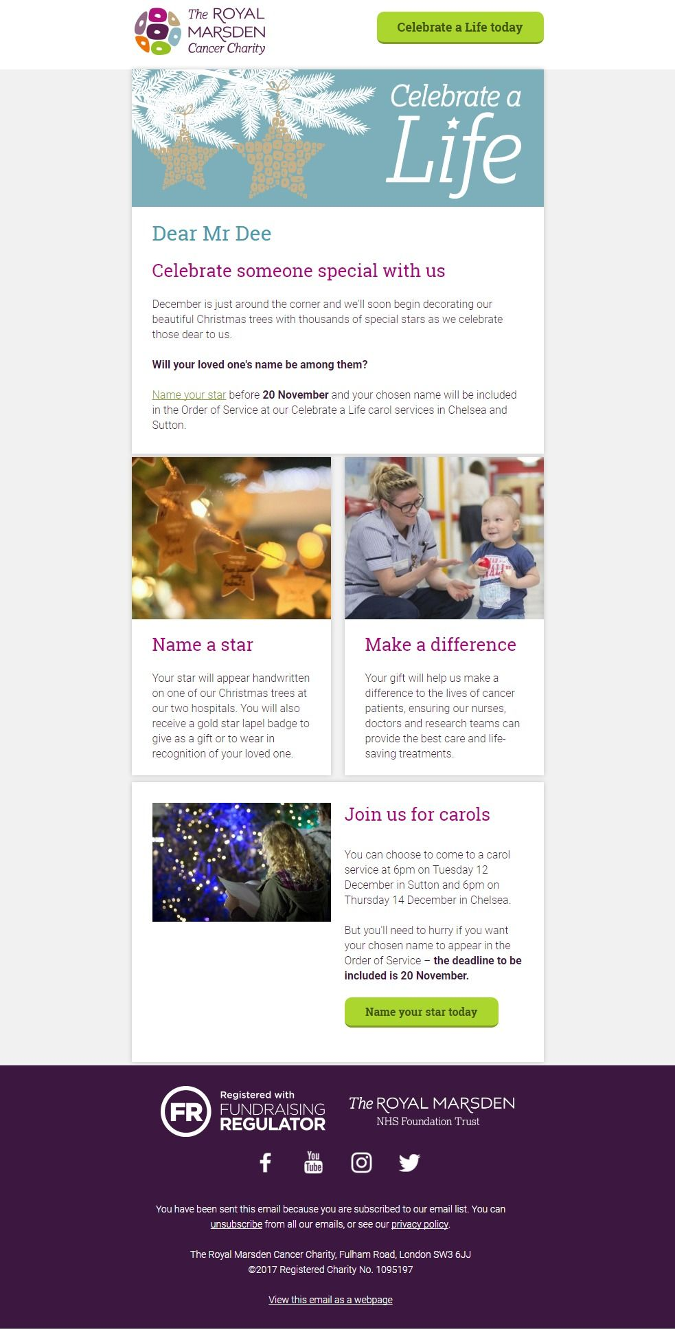 The Royal Marsden Cancer Charity: 🌟 Don\'t miss out, celebrate ...