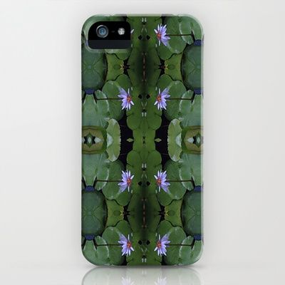 Water Lily Pattern iPhone & iPod Case by LMGlenn - $35.00