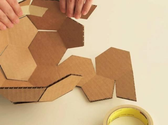 how to build a geodesic dome out of cardboard
