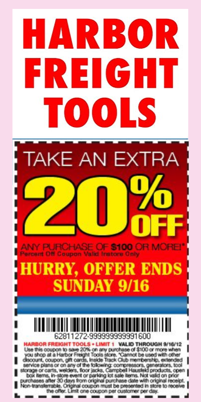 photo about Northern Tool Printable Coupon called Help you save Massive with Harbor Freight Discount codes, Promo Codes and Profits