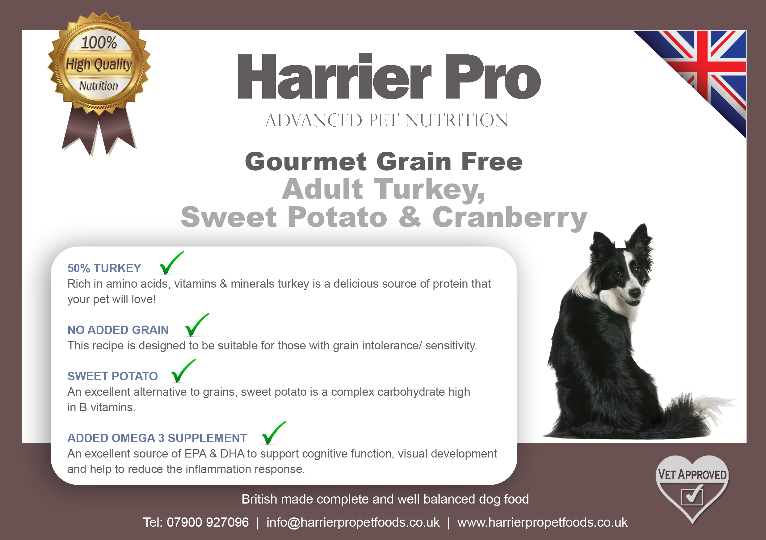 Our increasingly popular Grain Free product full of