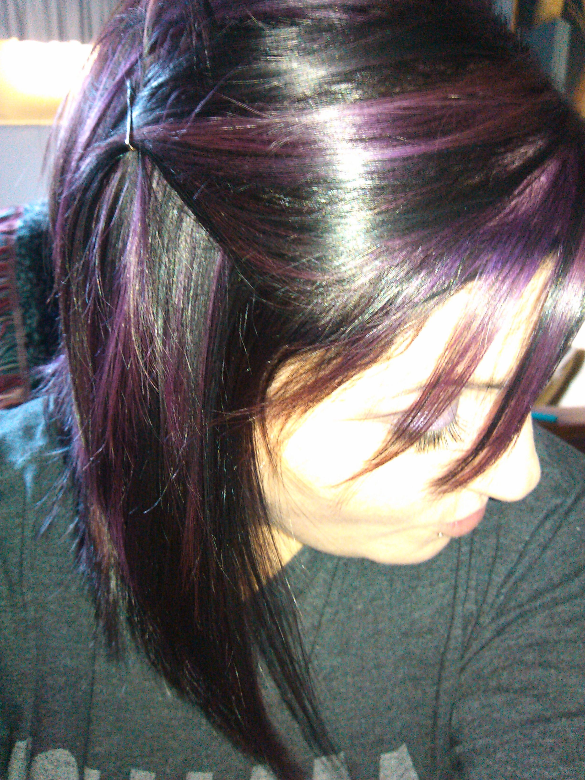Pin by Larissa Dewitt on hair  Pinterest  Purple highlights Hair