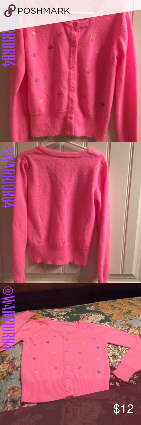 Pink Button Down Sweater Girls 7/8 Pink Button Down Sweater Girls ...