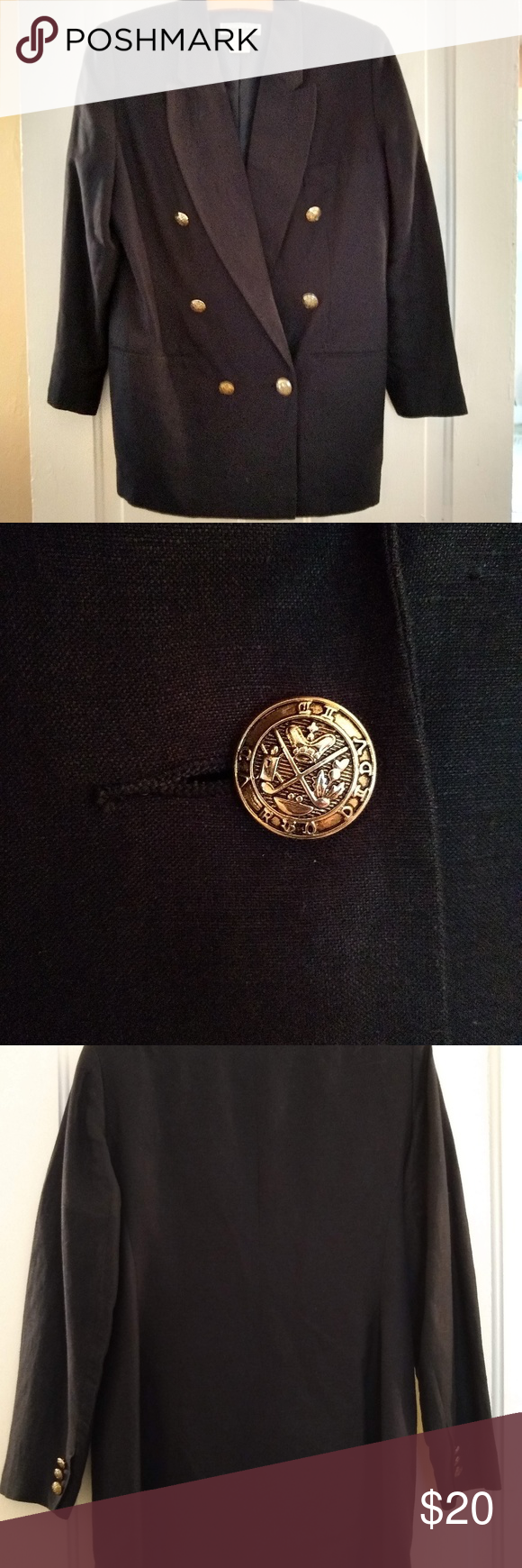 Vintage Navy blazer with beautiful gold buttons Let me know