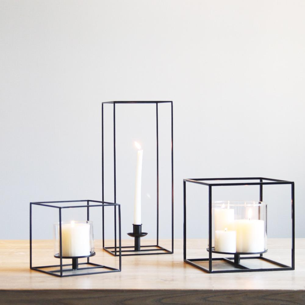 Square black metal candle holders simply elegant table top candleholders that are all ready for your spring ahead