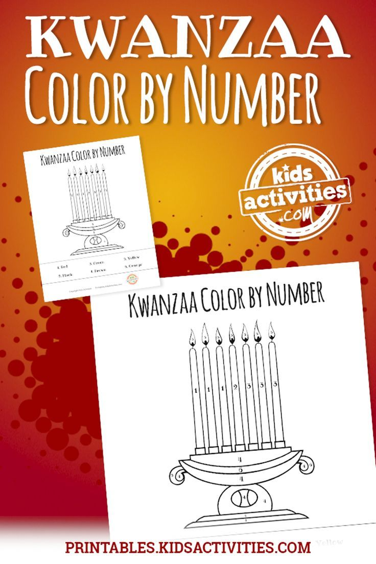 Kwanzaa Color by Number Coloring Sheet - Kids Activities | Pinterest ...