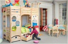 Etagenbett Gestalten : Kinderzimmer gestalten etagenbett aus naturholz stanza bimbi