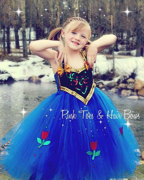 Anna Tutu Dress Frozen Tulle By GlitterMeBaby