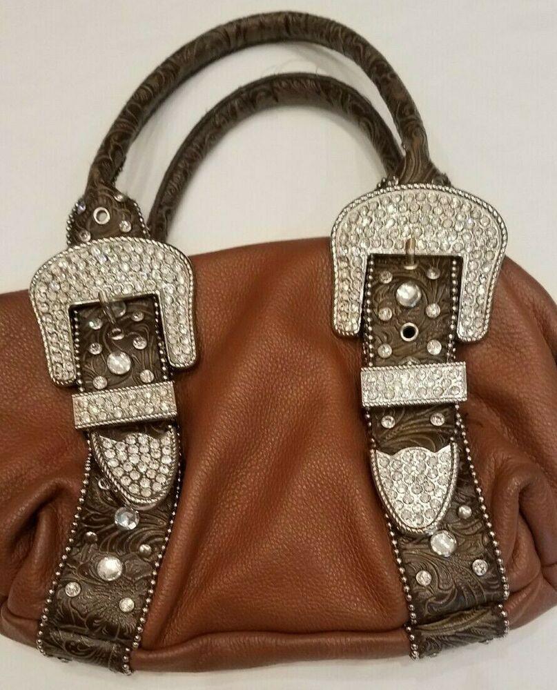 Charm And Luck Handbag Brown Leather